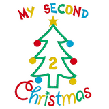 My 2nd Christmas applique machine embroidery design by sweetstitchdesign.com