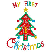 My 1st Christmas applique machine embroidery design by sweetstitchdesign.com