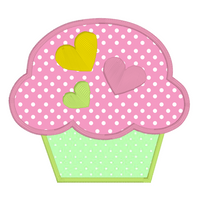 Cupcake applique machine embroidery design by sweetstitchdesign.com