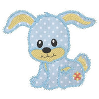 Cute bunny applique machine embroidery design by sweetstitchdesign.com