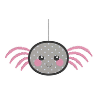 Kawaii spider applique machine embroidery design by sweetstitchdesign.com