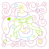 Baby quilt block linework machine embroidery design by sweetstitchdesign.com