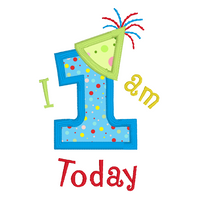 1st birthday applique machine embroidery design by sweetstitchdesign.com