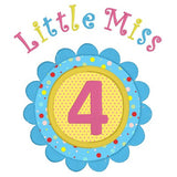 4th Birthday Applique Machine Embroidery Design by sweetstitchdesign.com