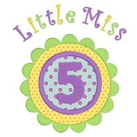 5th Birthday Applique Machine Embroidery Design by sweetstitchdesign.com