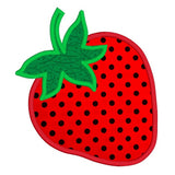 Strawberry applique machine embroidery design by sweetstitchdesign.com
