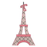 Eiffel Tower machine embroidery design by sweetstitchdesign.com