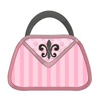 French handbag applique machine embroidery design by sweetstitchdesign.com