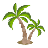 Summer palm trees machine embroidery design by sweetstitchdesign.com