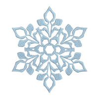 Snowflake machine embroidery design by sweetstitchdesign.com
