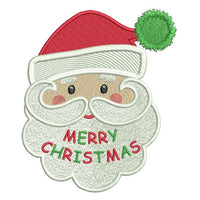 Christmas Santa machine embroidery design by sweetstitchdesign.com