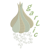 Garlic knob machine embroidery design by sweetstitchdesign.com