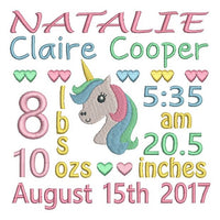 Baby Birth Announcements - Customised