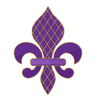 Fleur de Lis fill stitch machine embroidery design by sweetstitchdesign.com