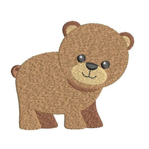 Mini bear machine embroidery design by sweetstitchdesign.com