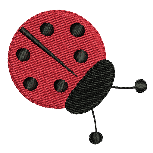 Mini fill stitch ladybug machine embroidery design by sweetstitchdesign.com