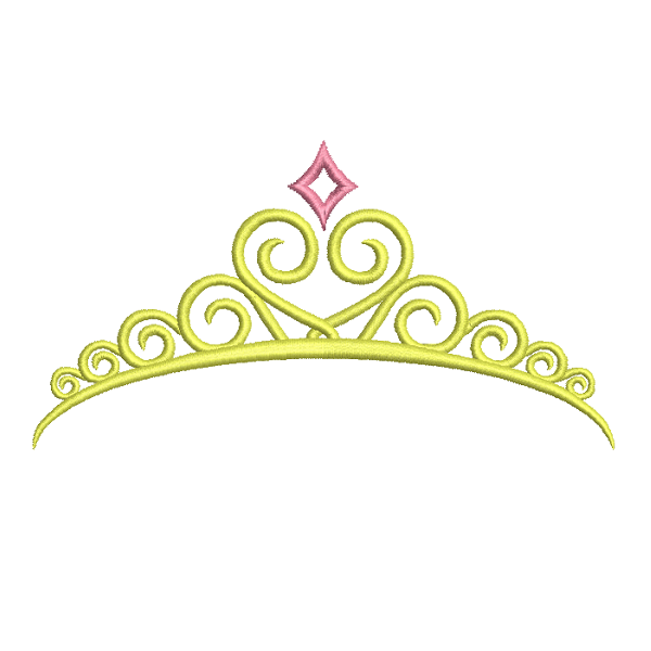 Princess crown machine embroidery design by sweetstitchdesign.com