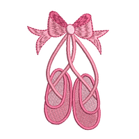 Ballet shoes machine embroidery design by sweetstitchdesign.com