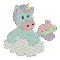 Sweet unicorn fill stitch machine embroidery design by sweetstitchdesign.com