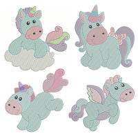 Sweet unicorn fill stitch machine embroidery designs by sweetstitchdesign.com
