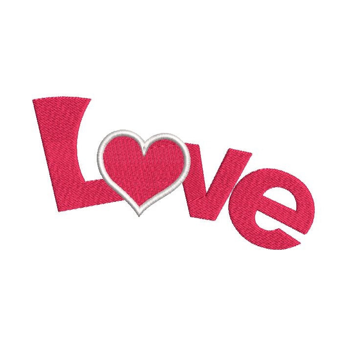 Love word fill stitch machine embroidery design by sweetstitchdesign.com