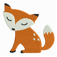 Baby Fox machine embroidery design by embroiderytree.com