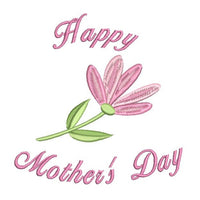 Happy Mother's Day machine embroidery design by sweetstitchdesign.com