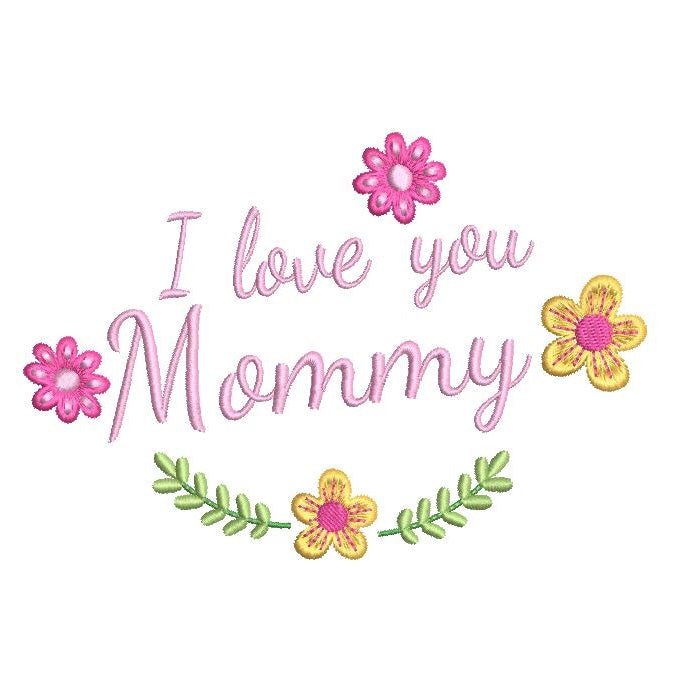 Mother's Day machine embroidery design by sweetstitchdesign.com