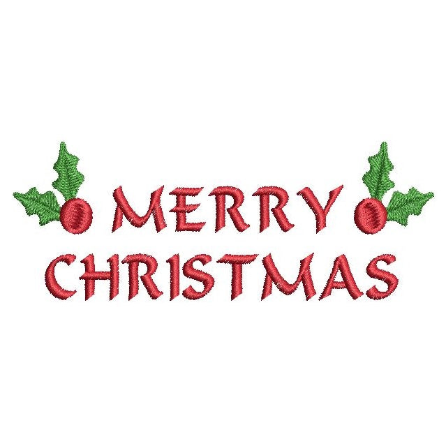 Christmas greeting machine embroidery design by sweetstitchdesign.com