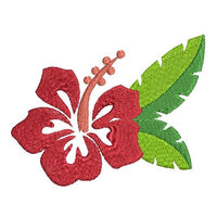 Hibiscus flower machine embroidery design by sweetstitchdesign.com