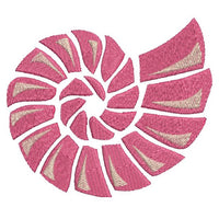 Pink shell machine embroidery design by sweetstitchdesign.com
