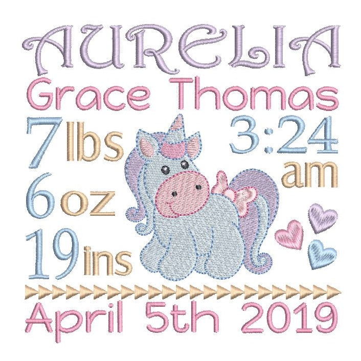 Baby Birth Announcement - Customised (S609-28)