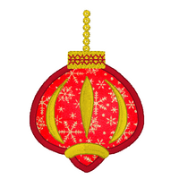 Christmas ornament applique machine embroidery design by sweetstitchdesign.com