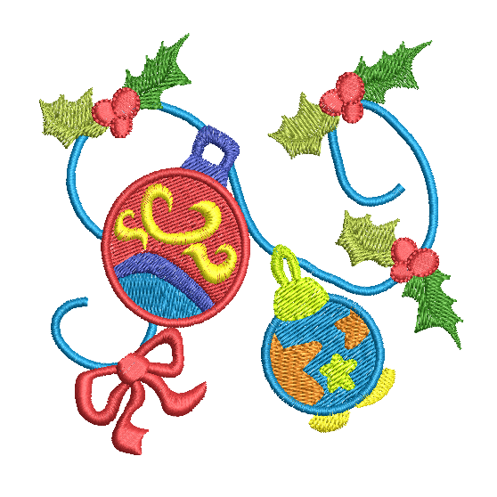 Christmas decoration fill stitch machine embroidery design by sweetstitchdesign.com