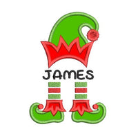 Christmas elf applique machine embroidery design by sweetstitchdesign.com
