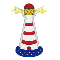 Lighthouse applique machine embroidery design by sweetstitchdesign.com