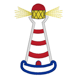 Lighthouse applique machine embroidery design by embroiderytree.com
