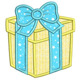 Birthday gift box applique machine embroidery design by sweetstitchdesign.com