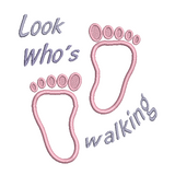 Baby feet applique machine embroidery design by sweetstitchdesign.com