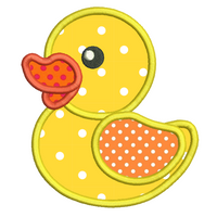 Rubber Ducky applique machine embroidery design by sweetstitchdesign.com