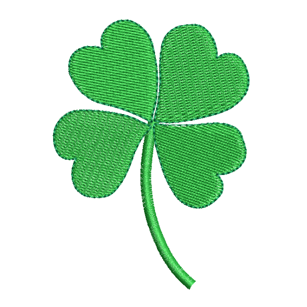4 leaf clover fill stitch machine embroidery design by sweetstitchdesign.com