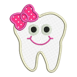 Girl tooth applique machine embroidery design by sweetstitchdesign.com
