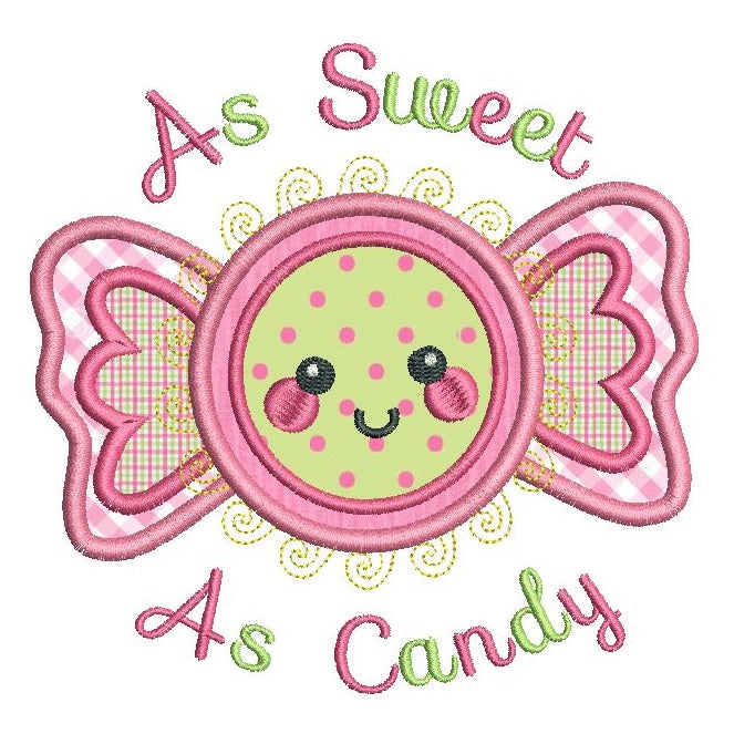 As sweet as candy applique machine embroidery design by sweetstitchdesign.com