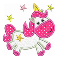 Unicorn applique machine embroidery design by sweetstitchdesign.com