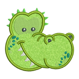 Crocodile applique machine embroidery design by sweetstitchdesign.com