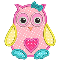 Baby Owl Applique Design (SA544-1)