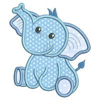 Baby boy elephant applique machine embroidery design by sweetstitchdesign.com