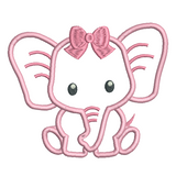 Baby elephant applique machine embroidery design by sweetstitchdesign.com