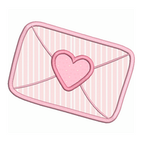 Love letter applique machine embroidery design by sweetstitchdesign.com