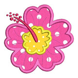 Hibiscus flower applique machine embroidery design by sweetstitchdesign.com